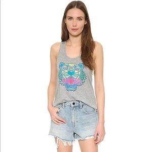 KENZO Light Grey Relaxed Tiger Tank